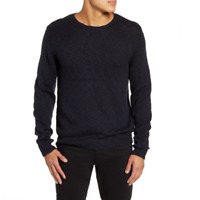 Calibrate Mens Blue Crew Neck Long Sleeve Pullover Sweater Size Large