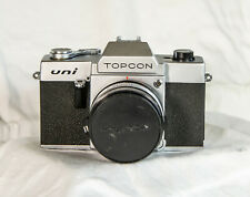 TOPCON UNI 35MM SLR CAMERA KOGAKU UV TOPCOR 53mm F2 LENS CASE WORKS NEAR MINT