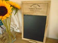 Rustic Country Farmers Market Chalk Board Blackboard Kitchen Planner Memo Plaque
