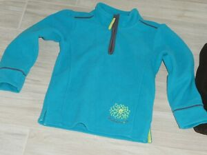 824 - Sweat polaire 8 ans ORCHESTRA turquoise