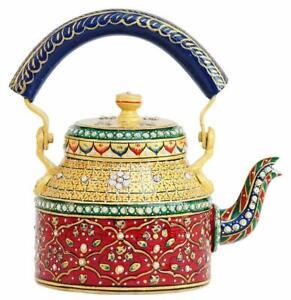 Handpainted Traditional Aluminium Colourfull Decorative Tea Kettle