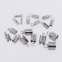 For Jewelry Making Finding Leather Clip Tip Cords Crimp End Beads Caps 50pcs