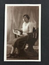 Vintage RPPC: Anon Woman: #A45 Britannias Electric Portraits: Wrinkled Stockings