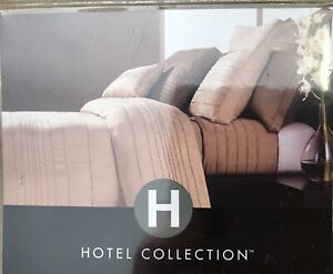 HOTEL COLLECTION STITCHED SUEDED KING SHAM MSRP $80 NEW IN OPENED PACKAGE