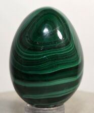 40mm Natural MALACHITE Egg Polished Banded Gemstone Crystal Mineral from Congo