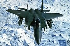 New 5x7 Military Photo: Air Force F-15E Strike Eagle Fighter Jet Over Iraq, 1999