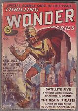 C1 THRILLING WONDER STORIES 10 1938 SF Pulp BROWN Campbell CUMMINGs Friend LONG