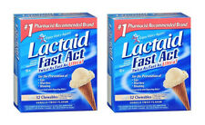 2 PACK Lactaid Fast Act Chewable Vanilla Twist 32CT 300450930323DT