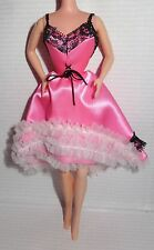 DRESS ~ EVENING W~BARBIE DOLL DOTW 1979 PINK PARISIAN FRANCE SALOON GIRL CAN CAN