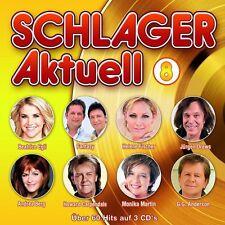 SCHLAGER AKTUELL 8 - ANDREA BERG/JÜRGEN DREWS/MONIKA MARTIN/+  3 CD NEUF