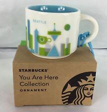 2017 Starbucks Seattle You Are Here 2 oz. Mug Ornament New in Box