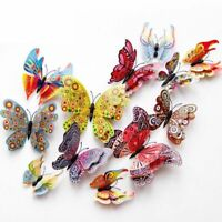 12x 3D Butterfly Stickrs DIY Wall Decoration House Decoration Babyroom Making