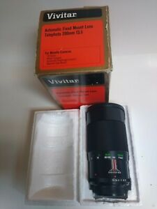 Vivitar 200mm f3.5 Telephoto  Auto Fixed Mount Lens SR Series  Minolta Cameras