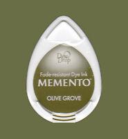 Stempelkissen Tinte Ink Memento DewDrop olive grove oliv-grün Mini MD708
