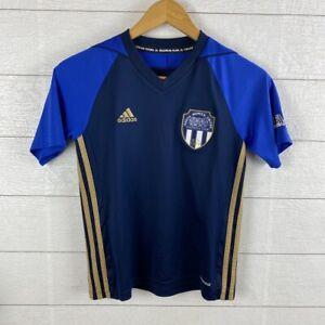 Adidas Santa Monica United football club Soccer Boy's Med Jersey #1 Blue