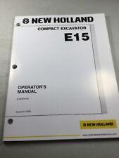 New Holland E15 Excavator Operators Manual