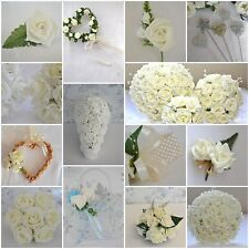 Acrylic Clear Diamante Wired Heart x 12 stems wedding bridal buttonhole corsage