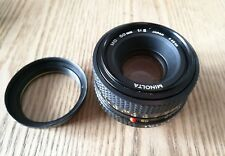 Lens Minolta md 50mm mount 49mm   mirror less