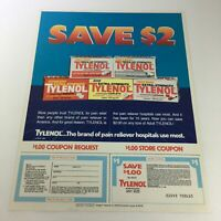VTG Retro 1984 Tylenol Acetaminophen Pain Reliever Print Ad Coupon
