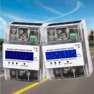 Drehstromzähler geeicht für DIN Hutschiene + 3x5(80)A 230/400V 3 Phasen 4 Draht~