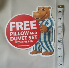 SILENTNIGHT BEDS hippo original advert POS store sign old style pre-duck