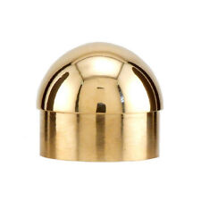 "Domed End Cap - Polished Brass - 2"" OD - Home Bar Pub Foot Rail Feet Rest Part"