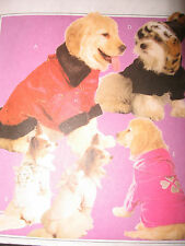 OOP--MCCALLS DOG PUPPY HATS COATS CLOTHES PET PATTERN~#M5723~SEW~SMALL MED LARGE