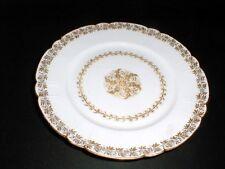 Haviland Limoges J E Caldwell Gold Medallion Leaf Ring Dinner Plate (loc-3X)