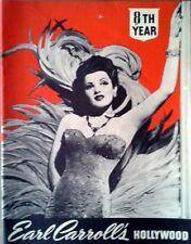 "EARL CARROLL'S HOLLYWOOD - 8 1/2"" X 11"" PHOTO BOOKLET - 1940'S"
