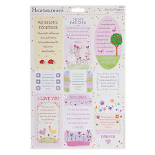 HEARTWARMERS SPARKLING SENTIMENTS- LOVE EMBELLISHMENTS FOR CARDS/CRAFTS