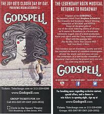 Godspell ad/flyer Broadway musical NYC Hunter Parrish from Weeds  previews