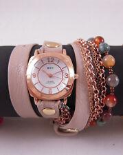 La Mer Brazil Beach Stones Chain Wrap Watch