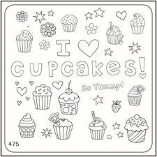 MoYou Nail Fashion Stamping Nail Art Image Plate 475 Trendy Style Cupcakes