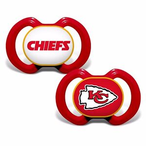 KC Chiefs Baby Pacifier Set of 2 - Officially Licensed NFL BPA Free
