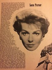 Lana Turner, Full Page Vintage Clipping