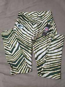 Women's Majestic NFL Green Bay Packers Zubaz Leggings Pants Size Medium