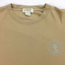 vtg J CREW T-Shirt Tee Mens sz 2XL / XXL Nicely Faded Beige Distress Surfer Prep