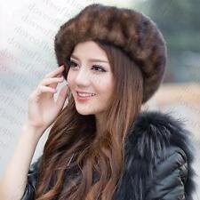 Winter Women Real New Mink Fur Hat Cap Headgear Beanie Beret QS 00034.1