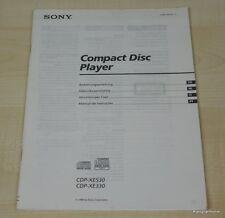 Sony CDP-XE330 / CDP-XE530 Bedienungsanleitung (mehrsprachig, auch in Deutsch)