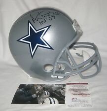 "MICHAEL ""PLAYMAKER"" IRVIN signed DALLAS COWBOYS Full Size Helmet w/HOF 07 - JSA"