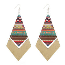 1 Pair Good Quality Wood Earrings African Woman Wooden Pendant E296