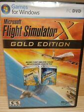 Microsoft Flight Simulator X: Gold Edition (PC: Windows, 2008) Pre-owned