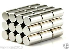 20pcs Super Strong Round Cylinder Magnets  4mm x 10mm Rare Earth Neodymium N50