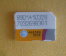 Lot of 3 At&T Nano Sim Cards used No Service for Test/Bypass only