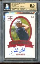 2012 Leaf Ultimate Fresh Faces Red Rookie Auto Dustin Johnson 3/5 BGS 9.5 10