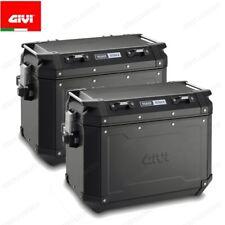 Pair Suitcases Aluminum GIVI OBKN48BPACK2 Trekker Outback Monokey 48L