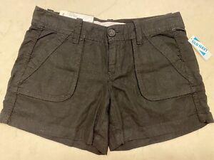 Old Navy Linen Shorts Sz 4 Black Low Rise