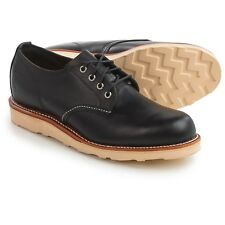 "NEW Chippewa Mens 4"" Odessa Black Leather Plain Toe Oxford Shoes OCM305001 8.5 D"