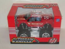 New All-Terrain Vehicle Friction Powered Fire Department (Red) Truck Free Shipng