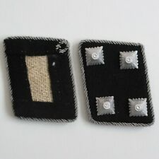 WW2 German Officer Sturmbannfuehrer Collar Tabs Kragenspiegel Repro Badge